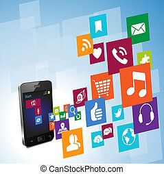 Metro Style Smart Phone - Vector Illustration of the new...