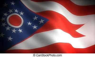 Flag of Ohio seamless