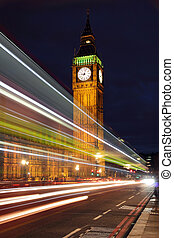 Palace of Westminster seen from Westminster Bridge at Night