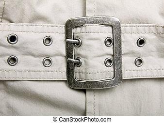 trinchera, chamarra, matel, cinturón, cierre, Arriba,...
