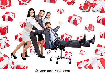 Business people creative design - Business people group team...