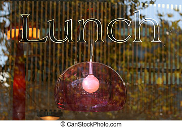 Lunch Sign - Southbank, Melbourne, Australia