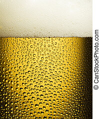 beer - cold beer in a glass close up shoot