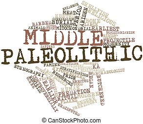 Middle Paleolithic - Abstract word cloud for Middle...