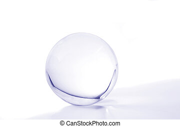 Blue crystal ball - Crystal ball with blue light and shadow