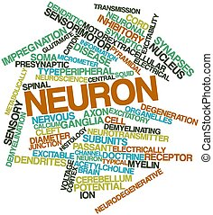 Word cloud for Neuron - Abstract word cloud for Neuron with...