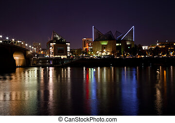 Chattanooga at Night - View of Chattanooga, Tennessee...