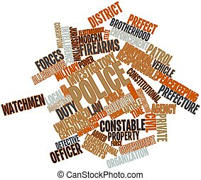 Police - Abstract word cloud for Police with related tags...