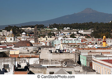 City of Puebla. Mexico - The city of Puebla the capital of...