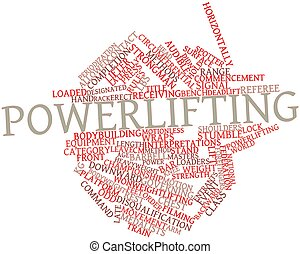 Powerlifting - Abstract word cloud for Powerlifting with...