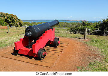 Red Canon - An old fashioned red Canon which used to work in...
