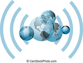 Global wifi network connection worlds - Global wifi wireless...