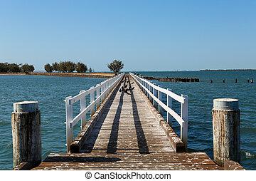 St Helena Island Jetty - St Helena Island in Moreton Bay,...
