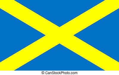 Flag of Mercia Saint Albans Cross - Official flag of Mercia...