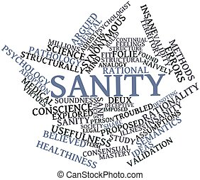 Word cloud for Sanity - Abstract word cloud for Sanity with...