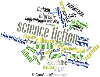 Science fiction - Abstract word cloud for Science fiction...
