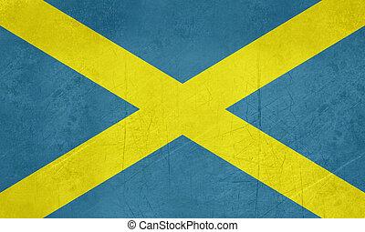 Flag of Mercia Saint Albans Cross - Grunge official flag of...