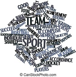 Word cloud for Team sport - Abstract word cloud for Team...