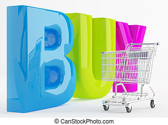 Cheerful Shopping - Shopping Cart is against capital letters...