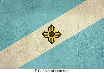 Grunge Madison city flag