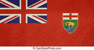 Grunge Manitoba state flag - Grunge illustration of Manitoba...