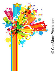 abstract colorful festival decoration background