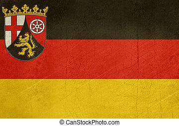 Grunge Rhineland_Palatinate flag