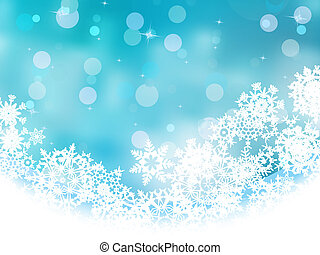 Blue christmas with white snowflake. EPS 8 - Blue christmas...