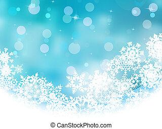 blauwe,  EPS, sneeuwvlok,  8, witte, Kerstmis