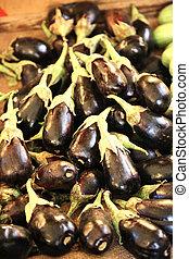 Jordanian Eggplant - jordanian eggplants on a market in...