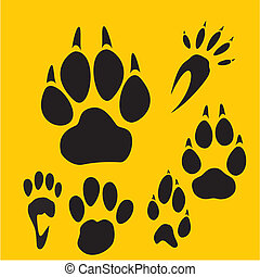 Footprints vector set - vinyl-ready illustration