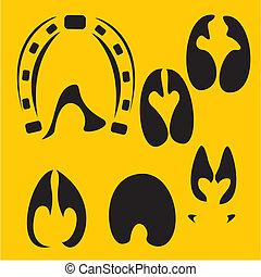 Footprints vector set - vinyl-ready illustration.