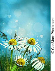 magical flower background