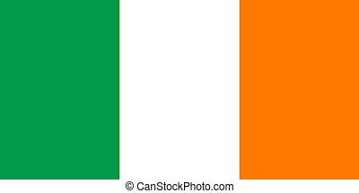 Irish Tricolor flag - Officall flag of the Irish Tricolor,...