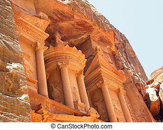 Temple fragment - Temple at Petra, Jordan, Middle east