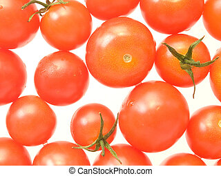 Tomatoes - Ripe red tomatoes on white