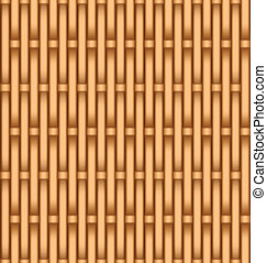 Basket weaving - Layered vector illustration of wooden...