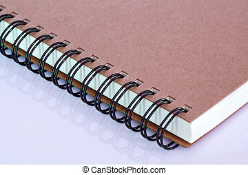 Note book with circular spiral