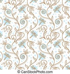 Floral ornament. Vector illustration of summer background