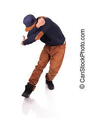 africano, bailarín, breakdance, bailarín