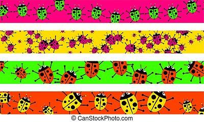 ladybug borders