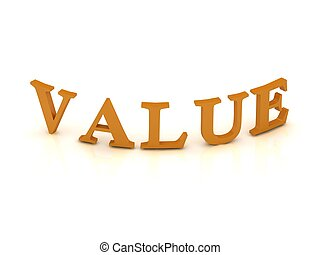 VALUE sign with orange letters