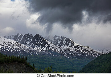Alaskan landscapes - mountains in Alaska