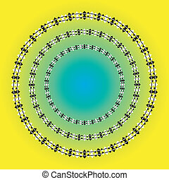 Optical illusions - Spiral or round illusion - vector