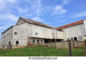 Old weathered barn in rural America