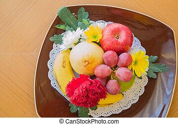 tropical, exótico, frutas
