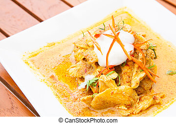 Chicken red Curry - Gourmet Thai Chicken red Curry Meal food