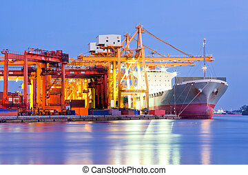Cargo Logistic - Industrial Container Cargo freight ship...