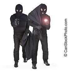 par, dos, ladrones
