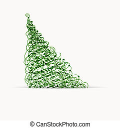 Christmas tree, postcard design with place for your text